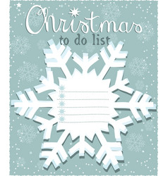 christmas to do list vector image