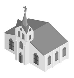 church bell tower icon isometric style vector image