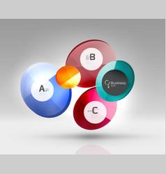 circle infographics vector image