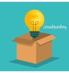 crowd funding concept icons vector image