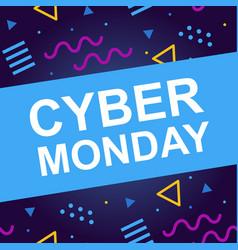 Cyber monday sale web banner vector