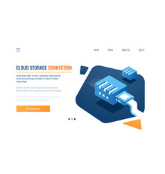 Data backup cloud storage clone system vector