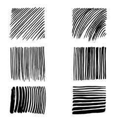 doodles set strokes vector image