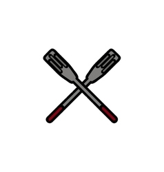 Fishing flat icon paddle vector