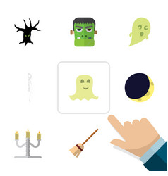 Flat icon celebrate set of spirit terrible vector