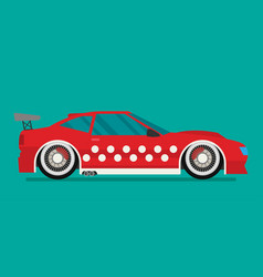 Flat racing car eps 10 vector