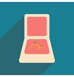 Flat with shadow icon and mobile applacation rings vector