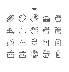 food ui pixel perfect well-crafted thin vector image