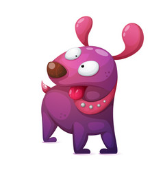funny cute crazy cartoon dog characters vector image