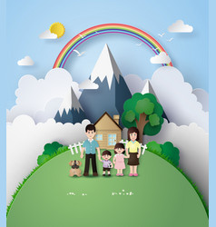 Happy family vector