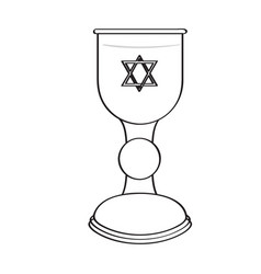 Holy grail outline vector