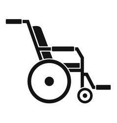 Hospital wheelchair icon simple style vector