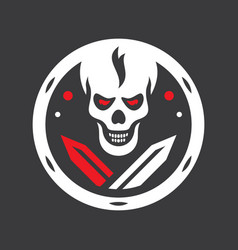 human evil skull sign vector image