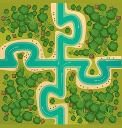 Islands in the form of connecting puzzles vector