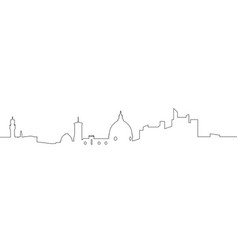Isolated florence cityscape vector