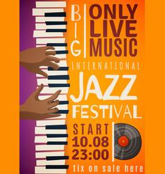 jazz festival vertical poster vector image