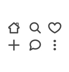 line art set icon for mobile app collection of vector image