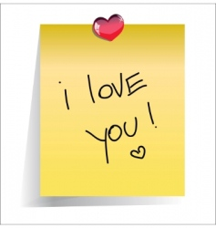 love you paper note vector image