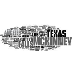 Mckinney word cloud concept vector