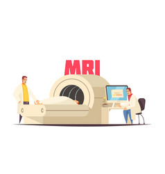 medical mri composition vector image