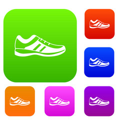 men sneakers set collection vector image