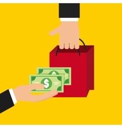 Money and buy design vector