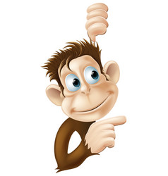 monkey pointing and looking vector image