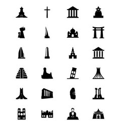 Monuments Icons 3 vector