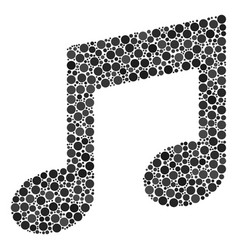 Music notes collage of dots vector