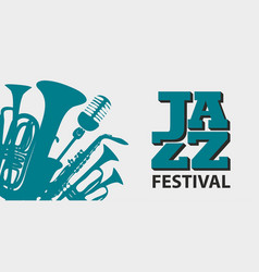 Poster for a jazz festival with wind instruments vector
