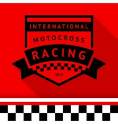 Racing stamp-14 vector image