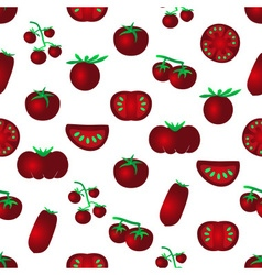 Red color tomatoes simple icons seamles pattern vector
