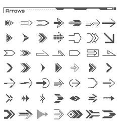 set black hud arrows elements futuristic user vector image