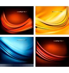 Set neon abstract vector