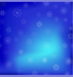 show flakes seamless pattern on blue sky vector image