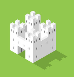 simple white isometric castle vector image