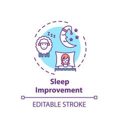 Sleep improvement concept icon vector