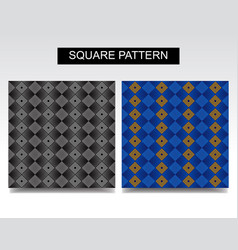 square pattern set for ceramic or cloth or wall vector image