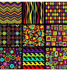 Stylish seamless patterns vector image