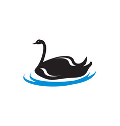 swan logo vector image