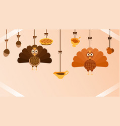 thanksgiving hanging miscellaneous vector image