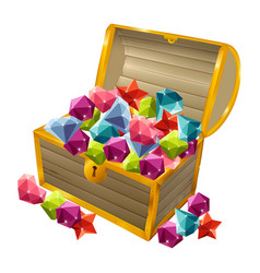treasure chest 01 vector image