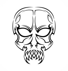 Tribal Skull Tattoo Design vector image