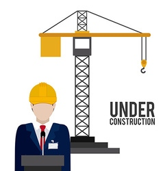 Under construction design vector image