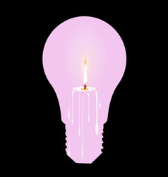 white candle light bulb vector image