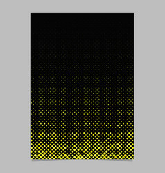 yellow abstract circle pattern brochure vector image