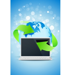 Background with Laptop vector image
