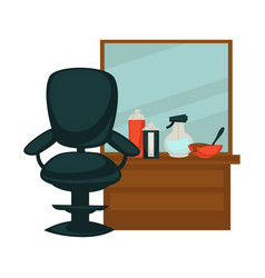 chair in beauty salon vector image