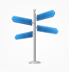 realistic 3d detailed direction road signs blank vector image