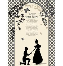 Romantic couple under arbor vector image vector image